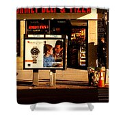 Gourmet Deli And Pizza - New York City Street Scene Shower Curtain