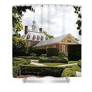 Governers Palace Garden Colonial Williamsburg Va Shower Curtain