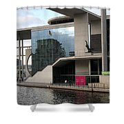 Government District With Reichstag Reflection Shower Curtain