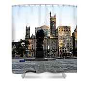 Government Of The People Statue Shower Curtain