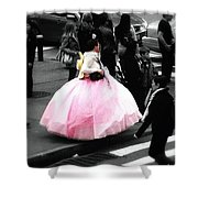 Gown Of Pink Shower Curtain