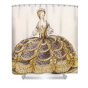 Gown Suitable For Presentation Shower Curtain