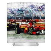 Gp Singapore F1  Shower Curtain