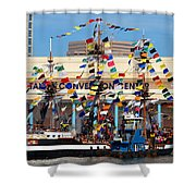 Tampa Convention Center And Gasparilla Shower Curtain