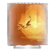 Mississippi Kite - Beauty Into The Light Shower Curtain