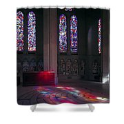 Grace Cathedral Walking Labyrinth - San Francisco Shower Curtain
