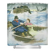 Grace Darling And Her Father Rescuing Shower Curtain