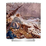 Grace Darling And Her Father Saving Shower Curtain