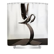 Grace In Chrome Shower Curtain