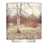 Grace In The Snow. Winter Poems Shower Curtain