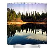 Grace Lake Northern California Shower Curtain