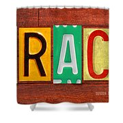 Grace License Plate Name Sign Fun Kid Room Decor. Shower Curtain