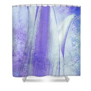 Graced Blossom In Lavender Shower Curtain