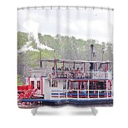 Graceful Ghost Steamboat Shower Curtain