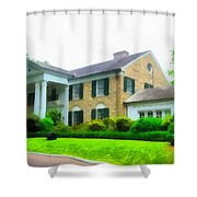 Graceland Mansion Shower Curtain