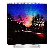 Graduate Housing Princeton University Nightscape Shower Curtain
