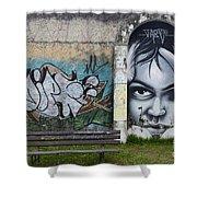 Graffiti Art Curitiba Brazil 1 Shower Curtain by Bob Christopher