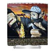 Graffiti Art Curitiba Brazil 10 Shower Curtain