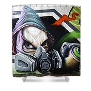 Graffiti Art Curitiba Brazil 18 Shower Curtain by Bob Christopher