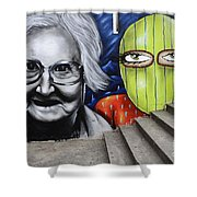 Graffiti Art Curitiba Brazil 3 Shower Curtain