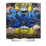 Graffiti Art Curitiba Brazil 7 Shower Curtain by Bob Christopher