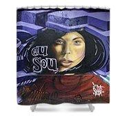 Graffiti Art Rio De Janeiro 3 Shower Curtain