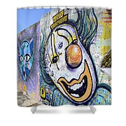 Graffiti Art Santa Catarina Island Brazil 1 Shower Curtain by Bob Christopher