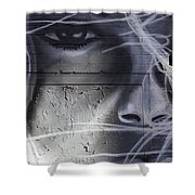 Graffiti Art With Mixed Textures Shower Curtain