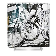 Graffiti Bikes Shower Curtain