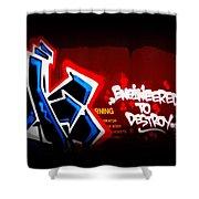 Graffiti - Box Car Art  7097-008 Shower Curtain