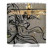 Graffiti Girl Shower Curtain