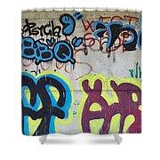 Graffiti Shower Curtain