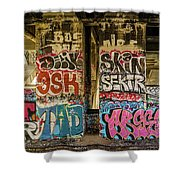 Graffiti On The Walls, Tenth Street Shower Curtain