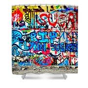 Graffiti Street Shower Curtain by Bill Cannon