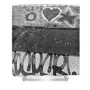 Graffiti Table 2 Shower Curtain
