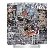 Graffiti Walls Shower Curtain