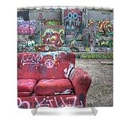 Grafitti Couch Shower Curtain
