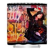 Grafitti Lovely Shower Curtain