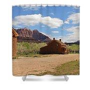 Grafton Utah Butch Cassidy Movie Set Panorama Shower Curtain