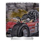 Graham Hill Mr Monaco Shower Curtain
