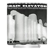 Grain Elevators Sacramento Valley California Shower Curtain