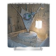 Grain Mill On The Way To Shigatse-tibet Shower Curtain