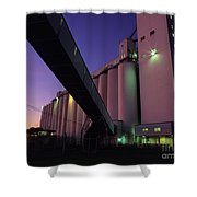 Grain Terminal Seattle Waterfront Shower Curtain