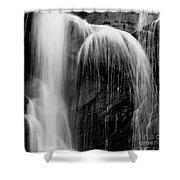 Grampians Waterfall Bw Shower Curtain
