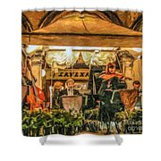Gran Caffe Lavena Orchestra Shower Curtain