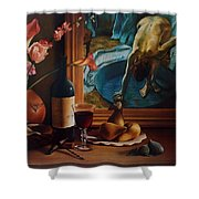 Gran Chateau With Pears Shower Curtain