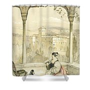 Granada , Plate 9 From Sketches Shower Curtain