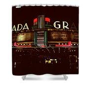 Night Lights Granada Theater Shower Curtain