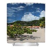 Grand Anse Beach - Grenada Shower Curtain