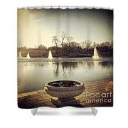 Grand Basin In Forest Park Shower Curtain